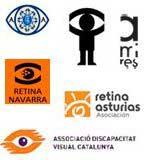 Logos de las asociaciones de Vision España